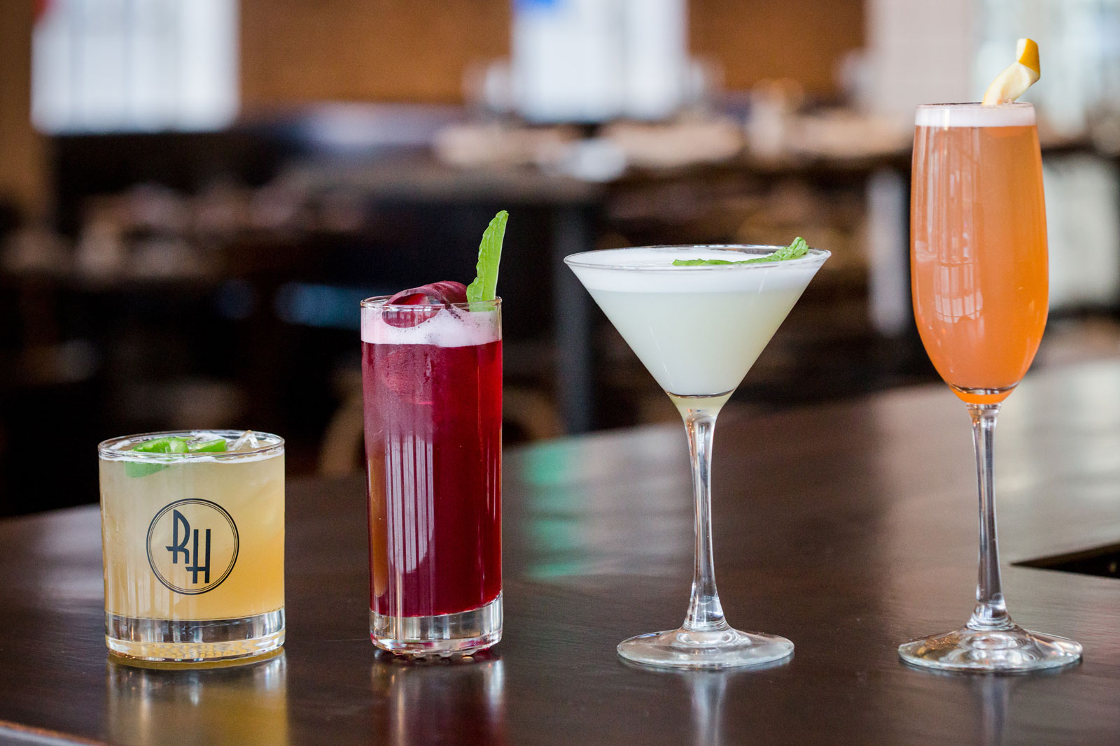 Wide variety of drinks from Row House in Harlem, NY
