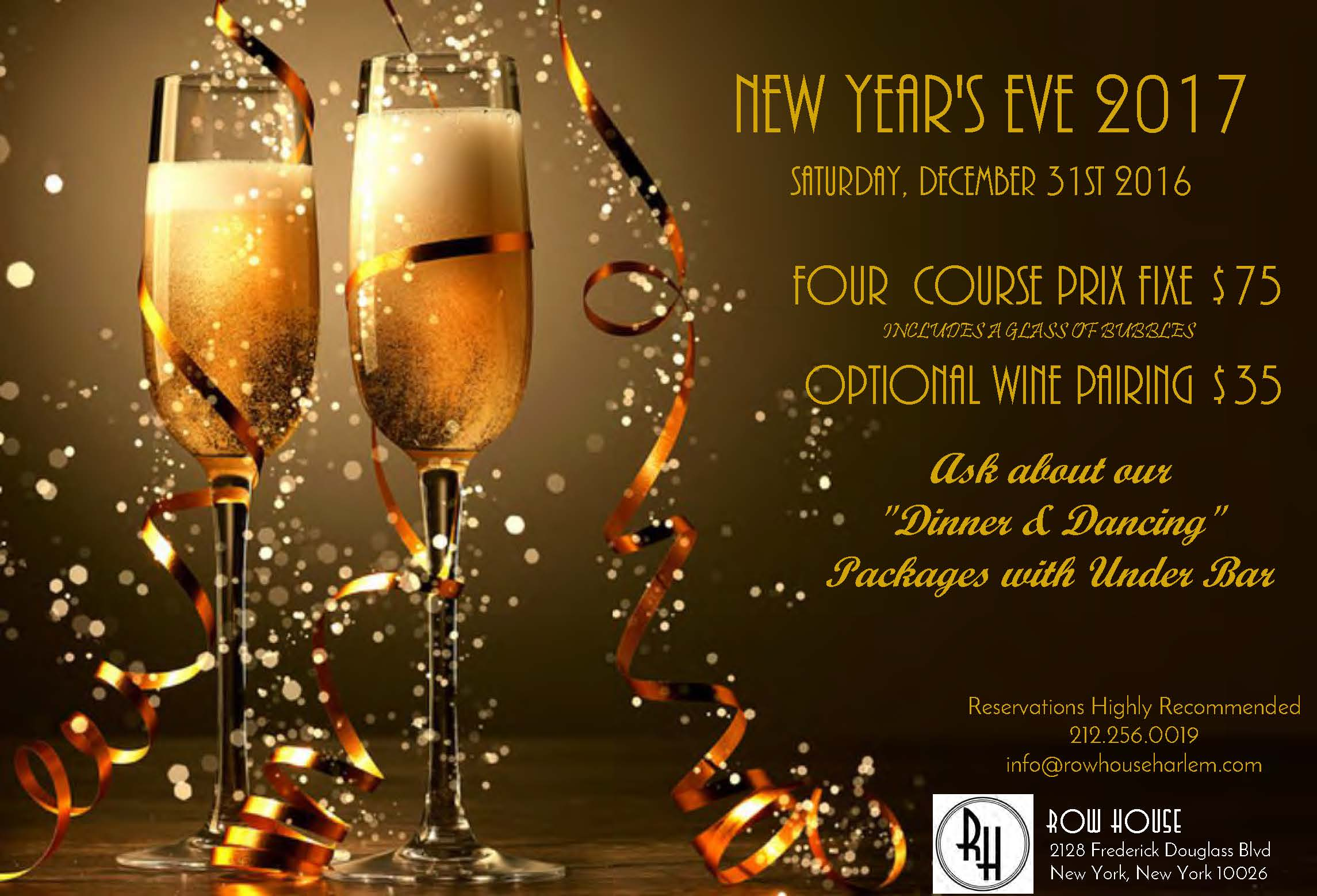 New Year's Eve at Row House
