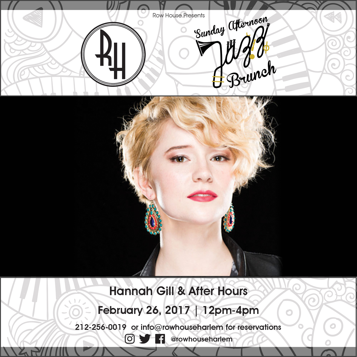 Jazz Brunch: February 26th- Hannah Gill & After Hours