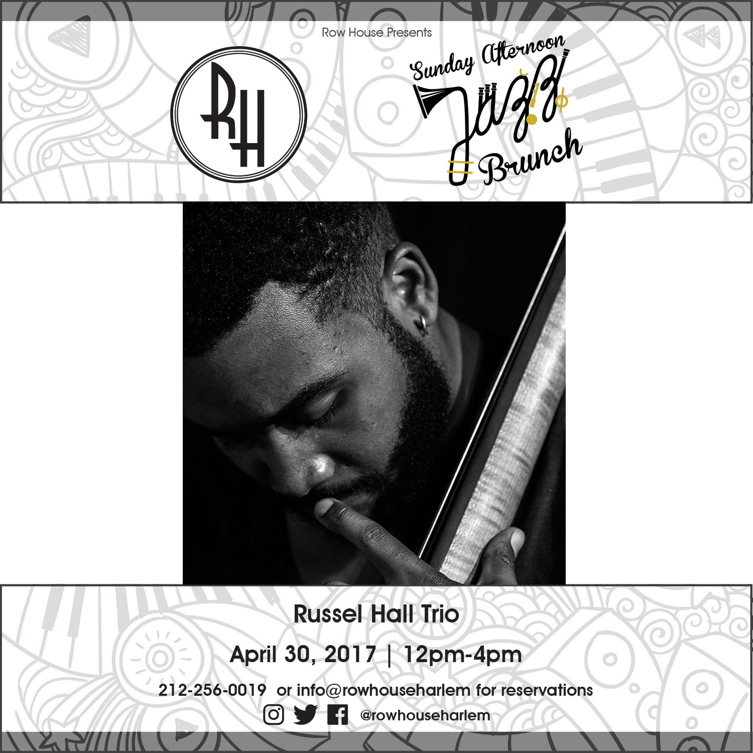 12pm-4pm: Russel Hall Trio