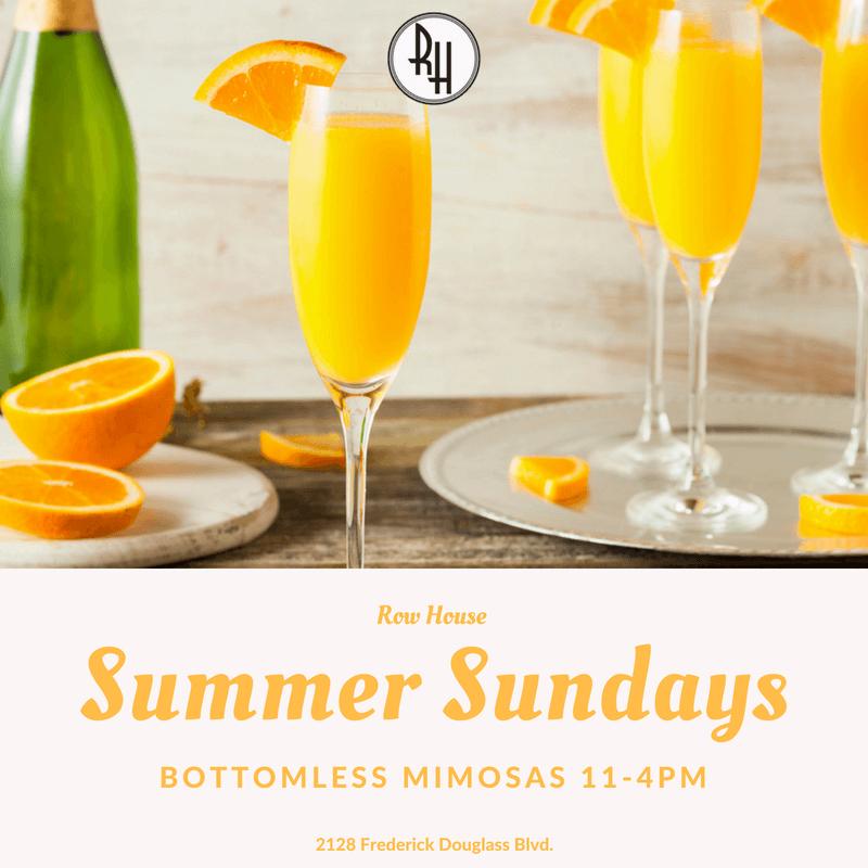 Summer Sundays- Bottomless Mimosas!