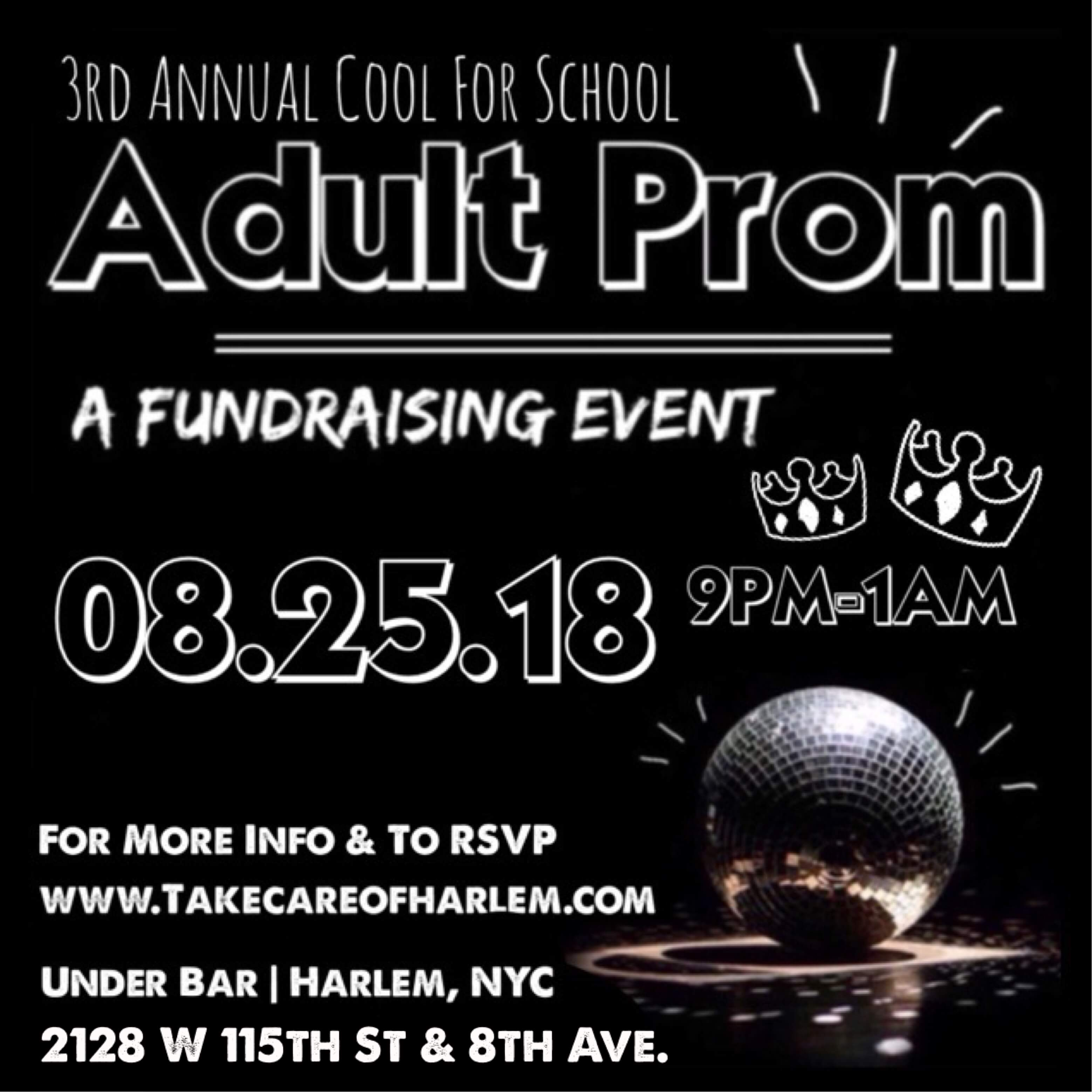 Adult Prom Benefiting #takecareofharlem